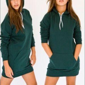 American Apparel California Fleece  Hoodie Dress